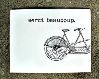 Merci Beaucoup Blank Greeting Card