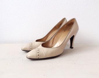 vintage leather heels / Christian Dior heels / Bimini Road heels