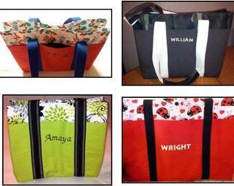 Custom 8 Pocket Diaper Bag - You Choose Pattern and Personalization