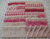 20 Vintage Chenille Squares 6 Inch -  Pinks