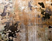 Abstract Photography, Industrial Art, Copper Modern Art, Rust & Corrosion Print, Urban Decay Photo, Brown Black Wall Decor, Textured Art