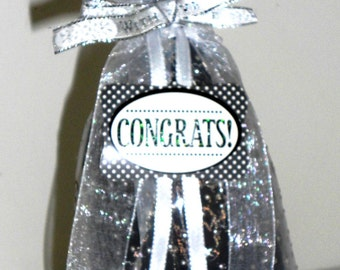 Congrats Wine Gift Bag Sheer with Stars