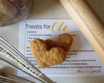 Personalize Dog Treat Recipe Card.