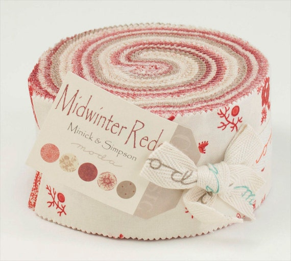 Midwinter Reds Jelly Roll Fabric Moda