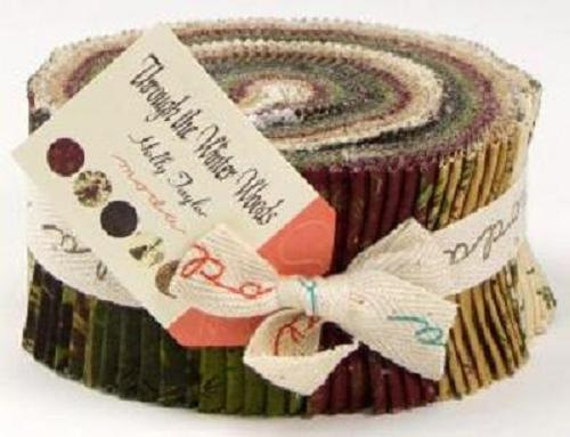 Through the winter woods fabric holly taylor moda jelly roll