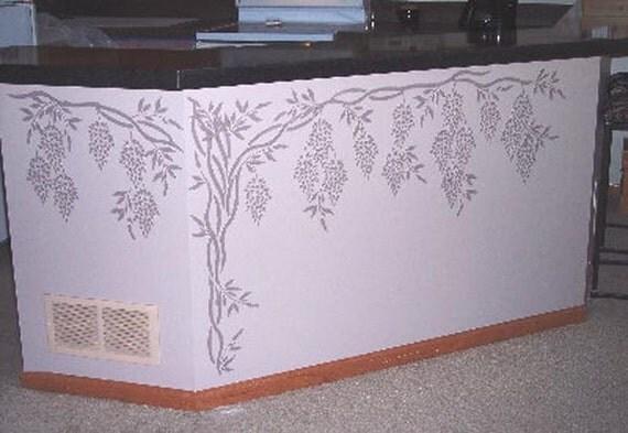 Generato intonaco stencil glicine stencil parete stencil for Glicine disegno