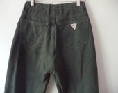 High Waisted Guess Jeans Olive Green size 29 skinny legs