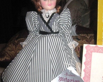 Effanbee Victorian Miniature Collection Doll..Cornwall Stripe 1986