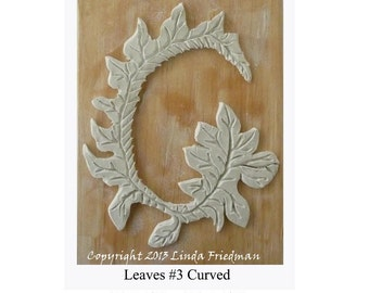 Stamp for Fabric - Leaves No. 3 curved