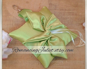 Knottie Style PET Ring Bearer Pillow...Made in your custom wedding colors...shown in all clover green