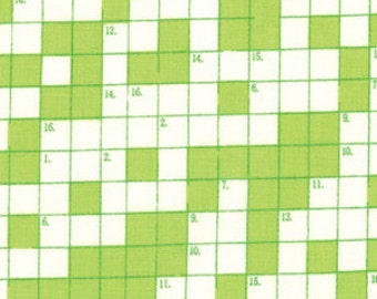 SPRING SALE - Bungle Jungle - Crossword in Lime Green - 1 Yard - SKU 39503 16 - by Tim and Beck for Moda Fabrics