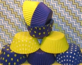 Blueberry and Lemon Cupcake Liner Collection   (50)