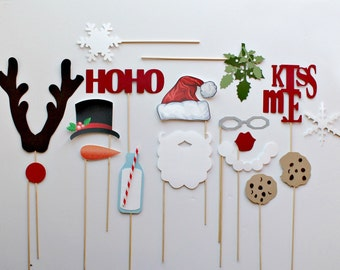 Christmas Photo Booth Props. Christmas Photobooth Holiday Props. Holiday Mini Session. Xmas Minis. Photo booth Photo Props. Santa Claus