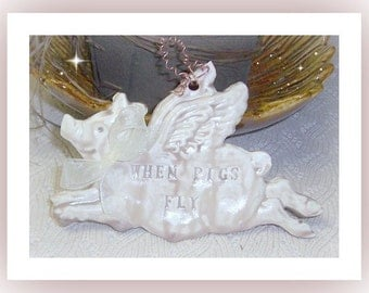 Pig When Pigs Fly Plaque