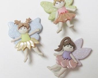 Flower Fairies  Buttons  Set of  3