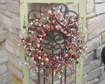 Berry Wreaths, Mini Berry Wreaths, Wedding Wreaths, CandleSticks, Decorative Wreaths, Wedding Decor, Fall Wreaths, Harvest Wreaths, Berries