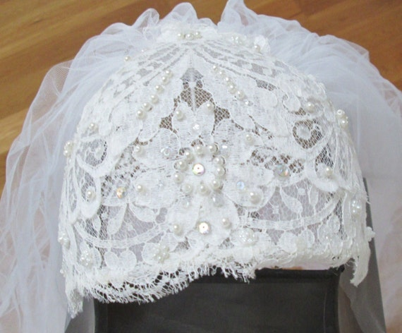 Lace Wedding Veil from VintageCarolina