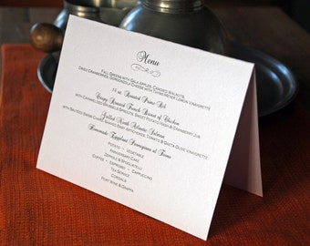 Flourish Design - Tented Dinner Menus - 5.5 x 7""