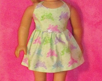 18 inch Doll Easter Bunny Dress
