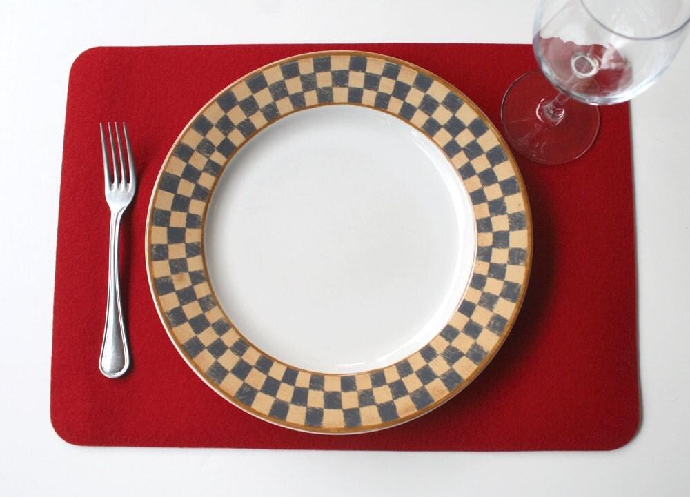 Set de table rectangulaire en 3mm pais vierge merino laine for Set de table epais