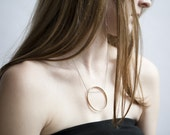Simple Circle of Life Brass Necklace Juliet Jewelry Statement Signature necklace Handmade Chicago Designer