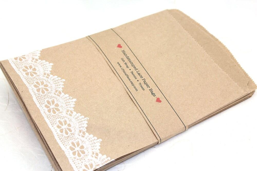 Wedding Favor Bags Paper : Wedding Favor Bags Set of 100 Kraft Paper Bags LARGE