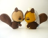 Squirrels Sweet Love wedding cake topper- Custom wedding cake topper- DIY wedding- bohemian wedding- sweet, romantic, vintage  wedding