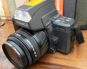 vintage camera ... YASHICA 230 AF 35 film mm camera with Yashica AF 35 - 70 Macro Lens ...