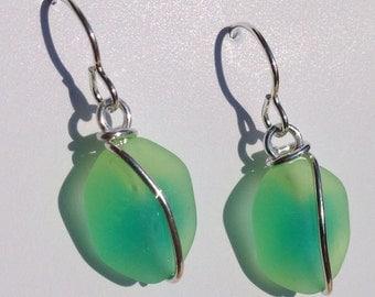 Yellow/Green FACET earrings