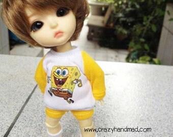B203 - Lati Yellow / pukifee Outfits - T-shirt  and short pants.