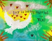 """Joy is Being Married to YOU 5""""x7"""" Blank Anniversary Card with Envelope, Wedding Stationery, Wholesale Greeting Card, Anniversary Card"""