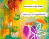 """Through Your Grief 5""""x7"""" Blank Sympathy/Condolence Card with Envelope, Wholesale Cards, Sympathy Stationery"""