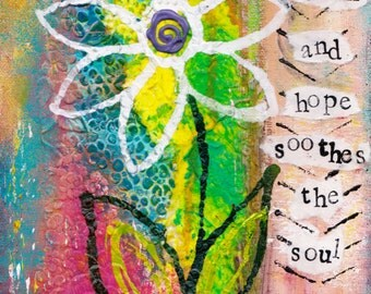 """Faith and Hope 5""""x7"""" Blank Greeting Card with Envelope, Inspirational Greeting Cards, Hope and Faith Card, Wholesale Cards, Stationery"""