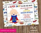 Superhero Baby Shower Invitations - 1.00 each with envelopes