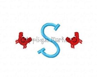 Machine Embroidery Design Embroidery Crab Mini Monogram INSTANT DOWNLOAD