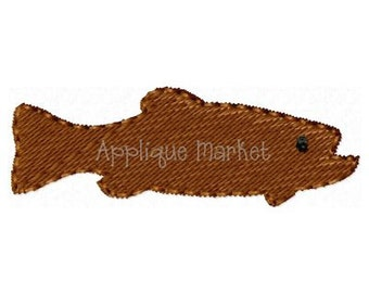 Machine Embroidery Design Embroidery Trout Mini INSTANT DOWNLOAD