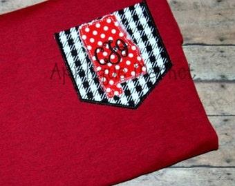Machine Embroidery Design Applique Appli-Pocket 1 Alabama INSTANT DOWNLOAD