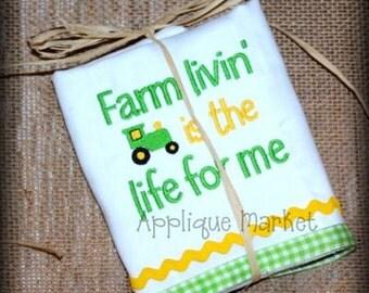 Machine Embroidery Design Farm Livin INSTANT DOWNLOAD