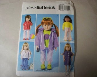 "New Butterick18"" Doll Clothes Pattern, B4089"