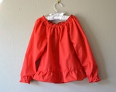 Red Peasant Top Christmas girls
