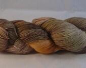 "Superwash merino 4 ply hand dyed sock yarn ""Autumn Leaves"""