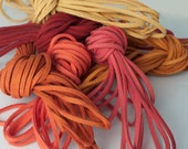 Autumn Candy Mix: Faux Suede Leather Cord (Microfiber), 3mm x 7 packs of 15ft per pack (7 different shades) / Faux Suede Lace