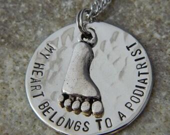 My Heart Belongs to a Podiatrist Necklace