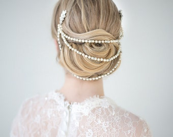 Bridal Hair Accessory, Pearl Hair Accessory, wedding Head Piece