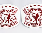 2 PACK - MVP Jammer and Blocker Awards Roller Derby Helmet Vinyl Sticker / Decal