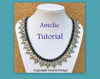 Tutorial Amelie SuperDuo&Tila Necklace PDF