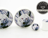 8g (3mm) White Wolf BMA Plugs Single Flare Pair