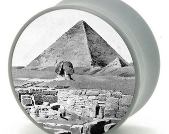 00g (9.5mm) Pyramid in Egypt Power Plugs by BMA Pair