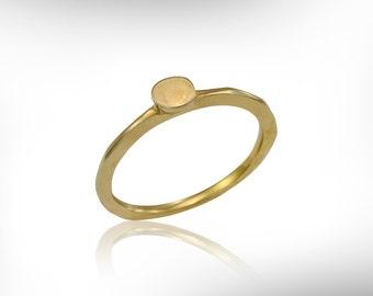14k Gold Circle Plate Band, Dainty Ring, Engagement Ring, Stacking Ring, FREE SHIPPING