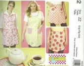 MCCALLS PATTERN M6092 ladies full apron, hot mitt, half apron, hot pads, sizes large, Xlarge, and XXlarge, new and uncut